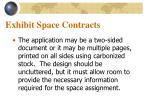 exhibit space contracts