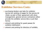 exhibitor services costs