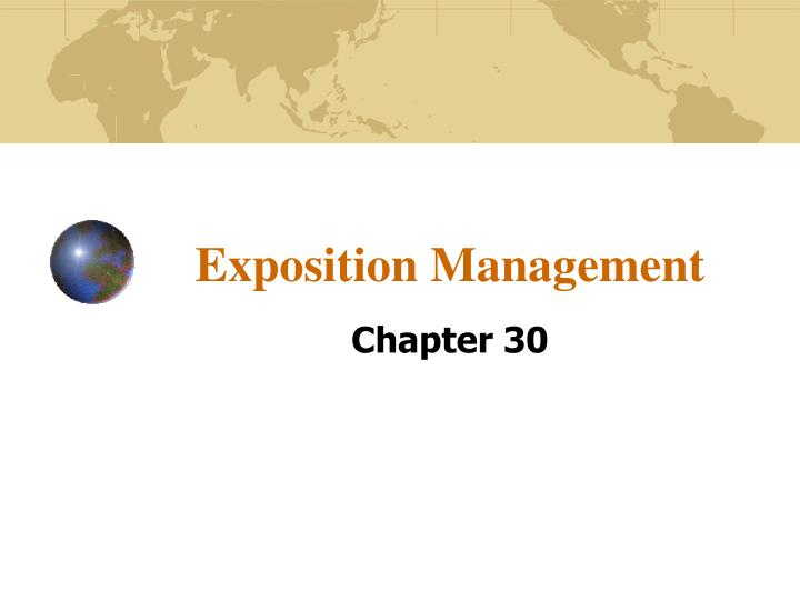 exposition management