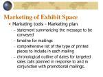 marketing of exhibit space