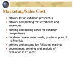 marketing sales cost