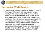 perimeter wall booths