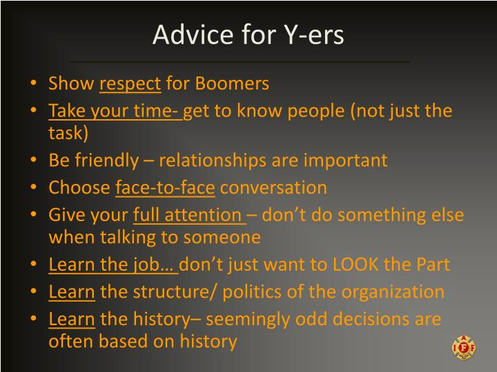 Advice for Y-