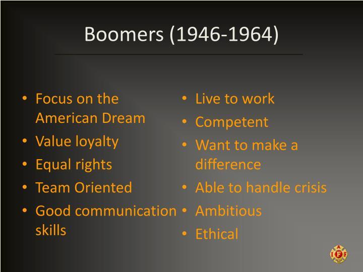 Boomers (1946-1964)