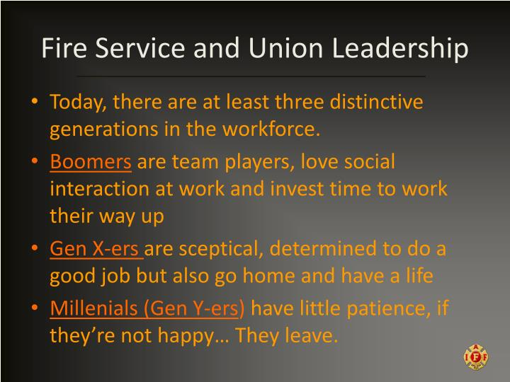 Fire Service and Union Leadership