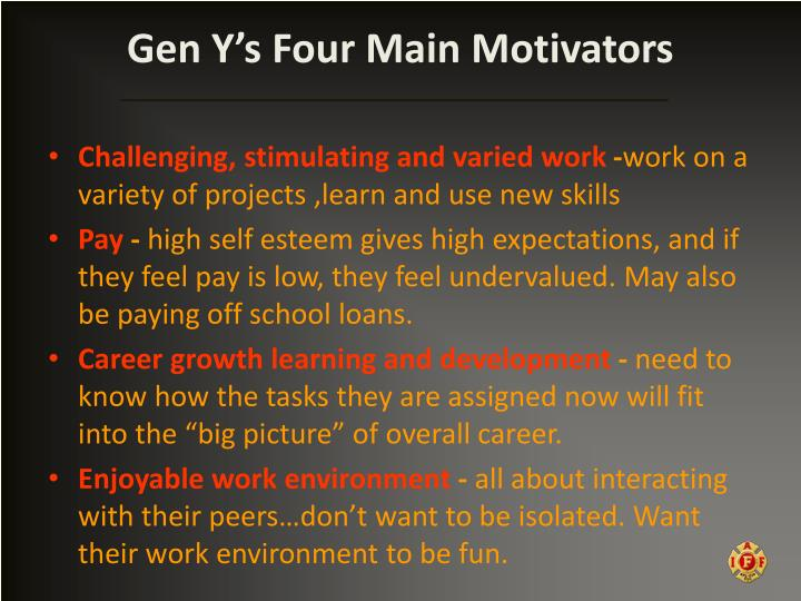 Gen Y's Four Main Motivators