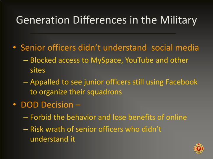 Generation Differences in the Military