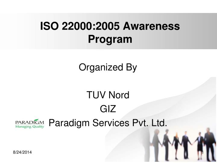 iso 22000 2005 awareness program n.