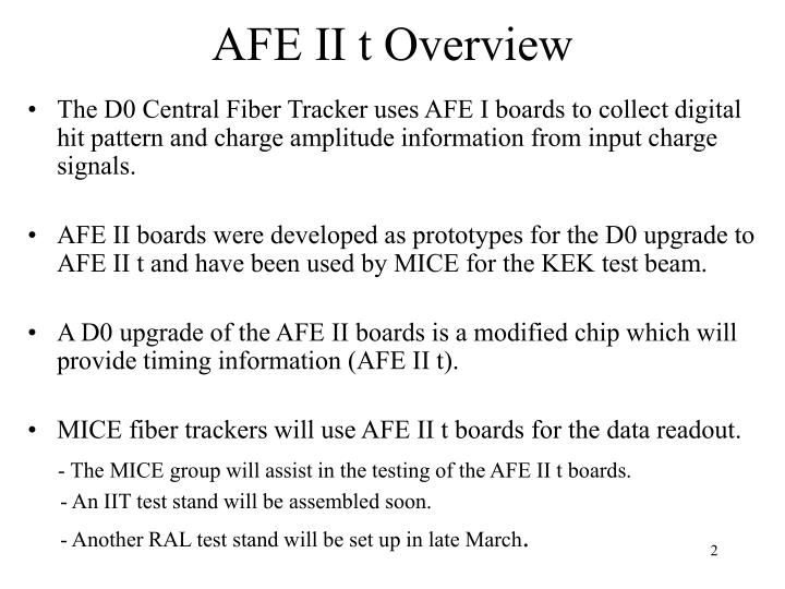 Afe ii t overview