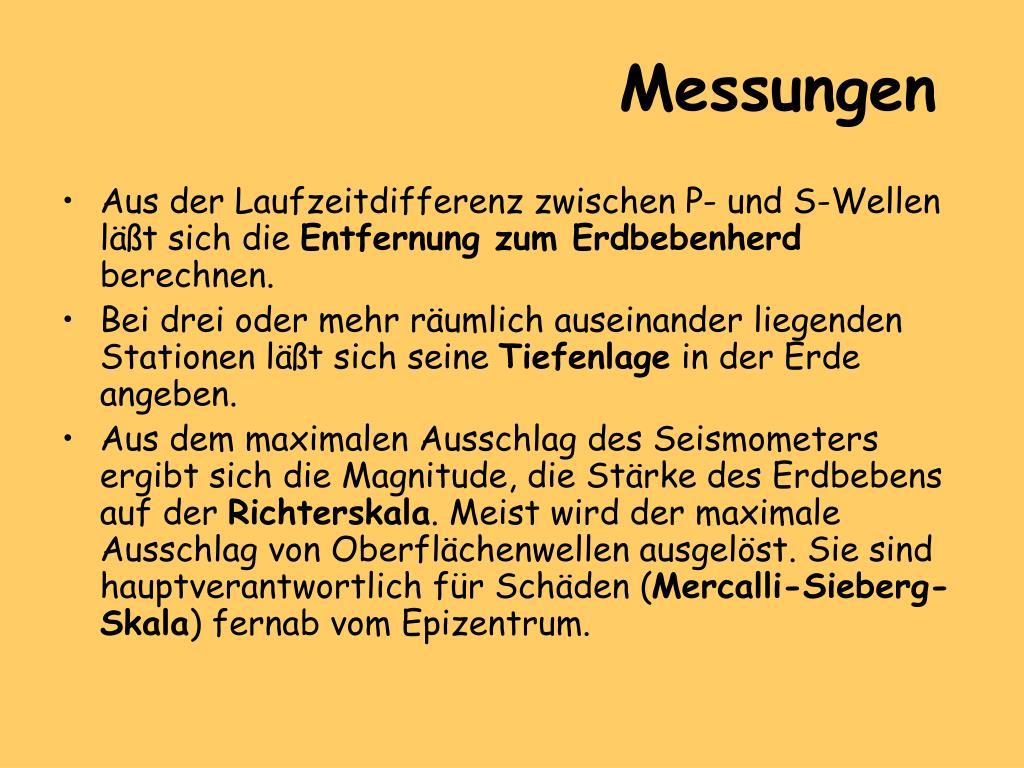 PPT - Erdbebenwellen PowerPoint Presentation, free ...