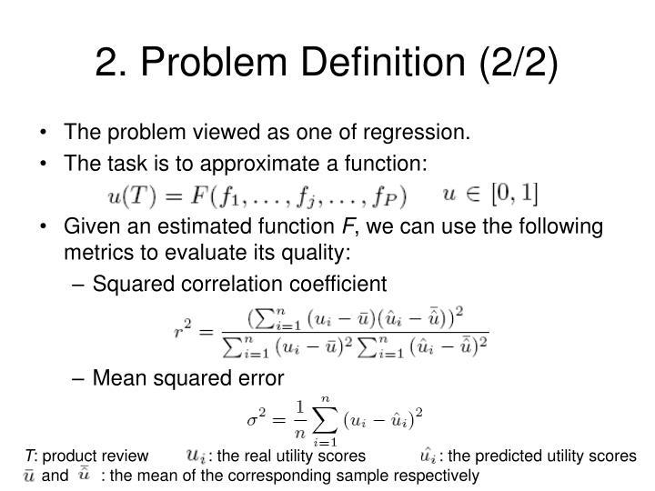 2. Problem Definition (2/2)