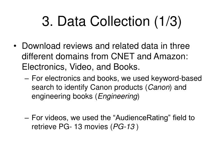 3. Data Collection (1/3)