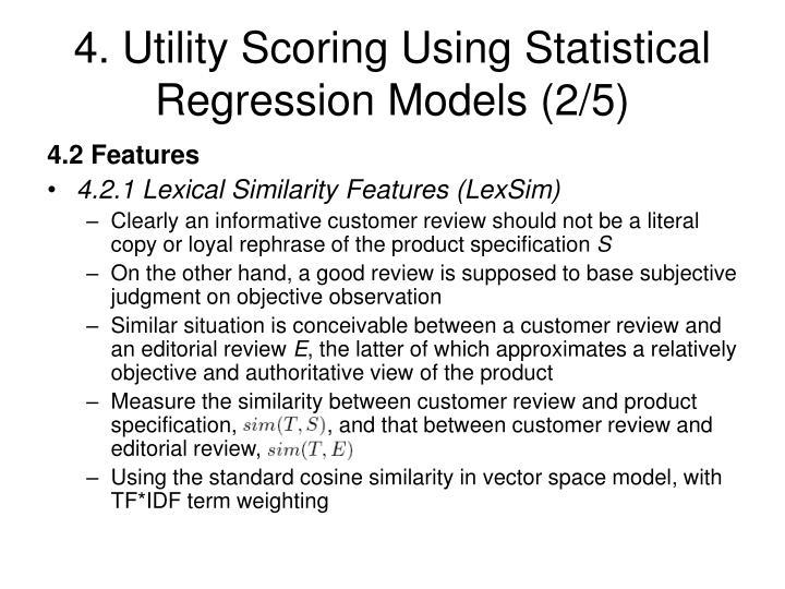 4. Utility Scoring Using Statistical Regression Models (2/5)