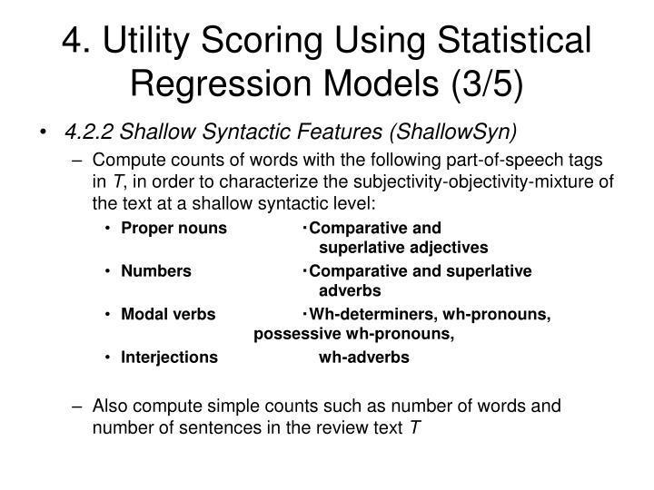 4. Utility Scoring Using Statistical Regression Models (3/5)