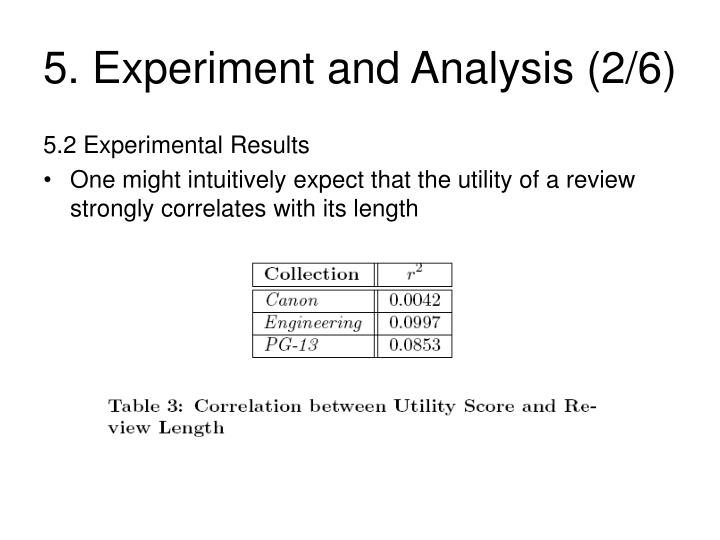 5. Experiment and Analysis (2/6)