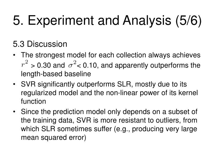 5. Experiment and Analysis (5/6)