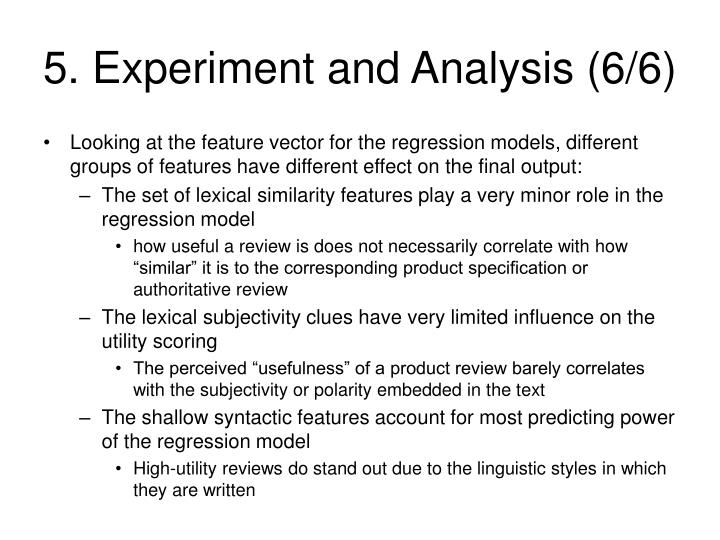 5. Experiment and Analysis (6/6)