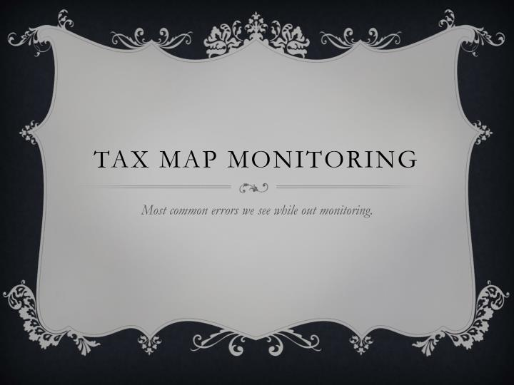 tax map monitoring n.