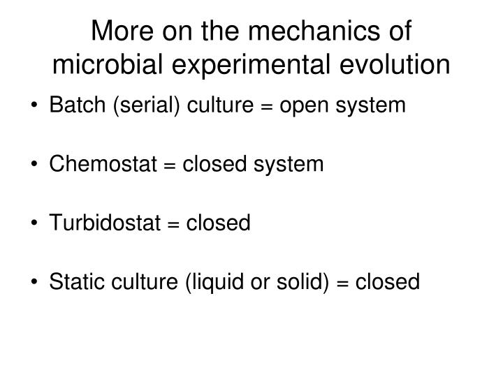 More on the mechanics of