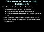 the value of relationship evangelism1