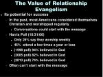 the value of relationship evangelism2