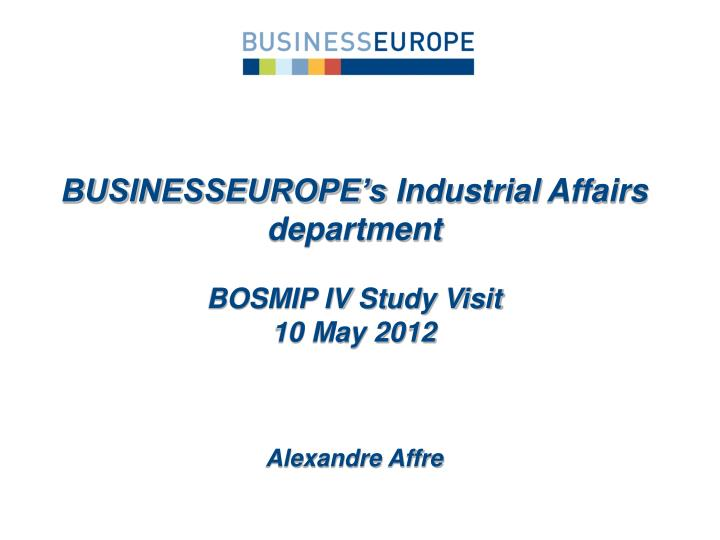 BUSINESSEUROPE's