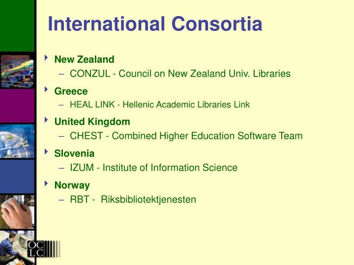 International Consortia