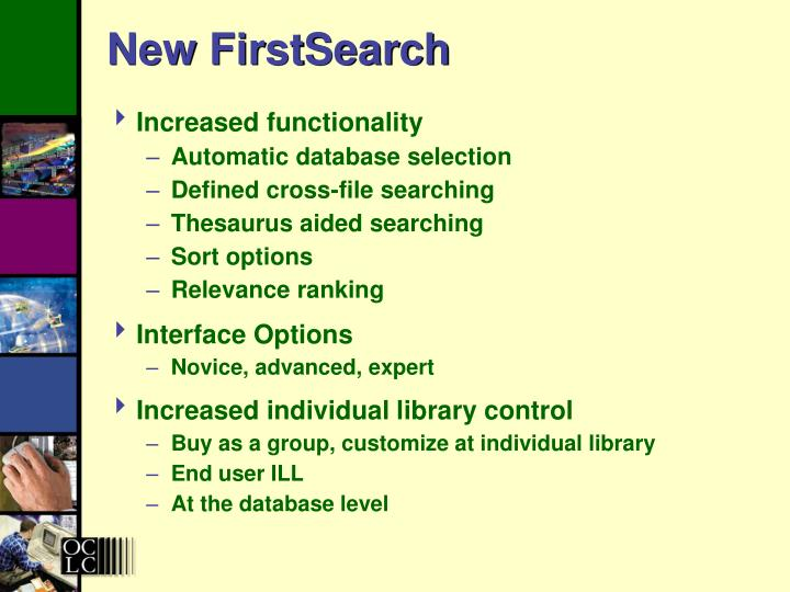 New FirstSearch