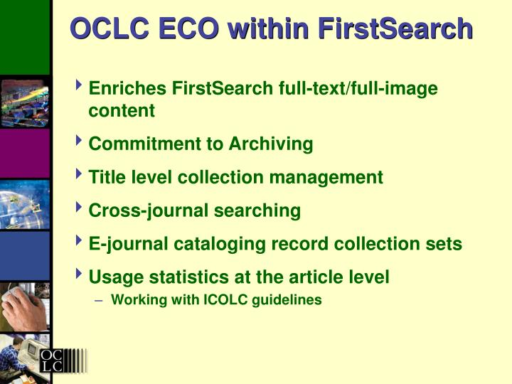 OCLC ECO within FirstSearch