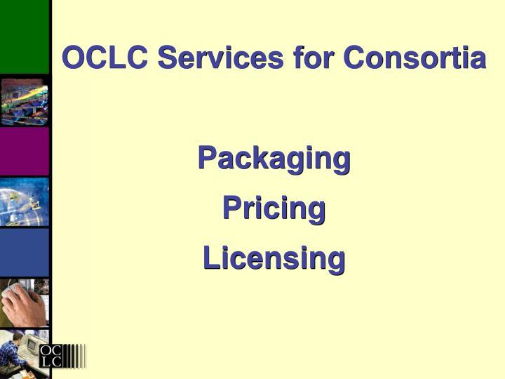 OCLC Services for Consortia
