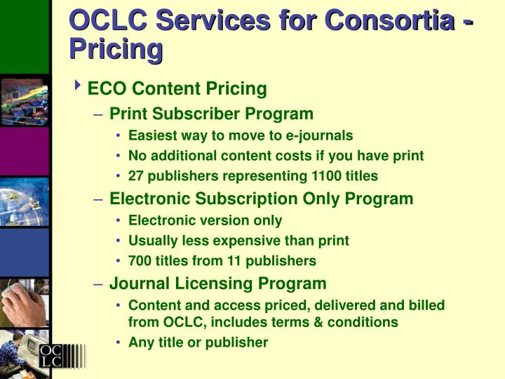 OCLC Services for Consortia - Pricing