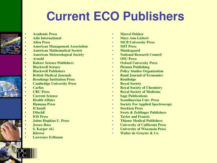 Current ECO Publishers