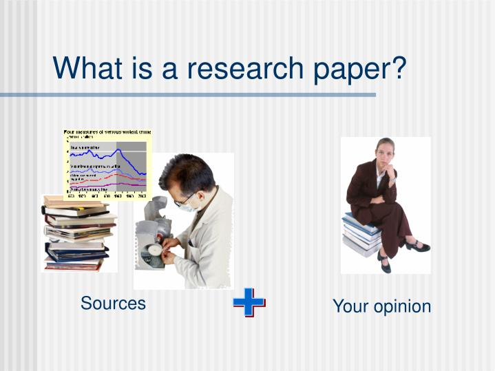 what research paper Research paper (noun) a substantial piece of academic writing, usually done as a requirement for a class, in which the author does independent research into a topic and writes a description of the findings of that research.