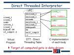 direct threaded interpreter