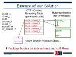 essence of our solution