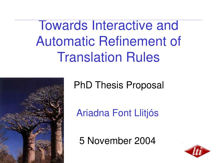 phd thesis proposal presentation, Powerpoint templates