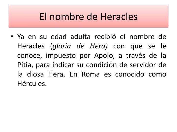 El nombre de Heracles