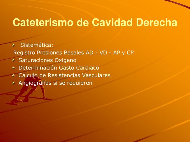 Cateterismo de Cavidad Derecha