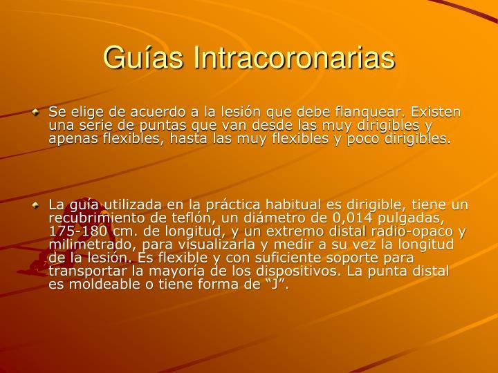 Guías Intracoronarias