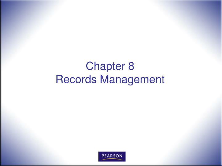 chapter 8 records management n.
