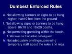 dumbest enforced rules1