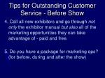 tips for outstanding customer service before show1