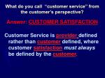 what do you call customer service from the customer s perspective
