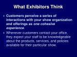 what exhibitors think
