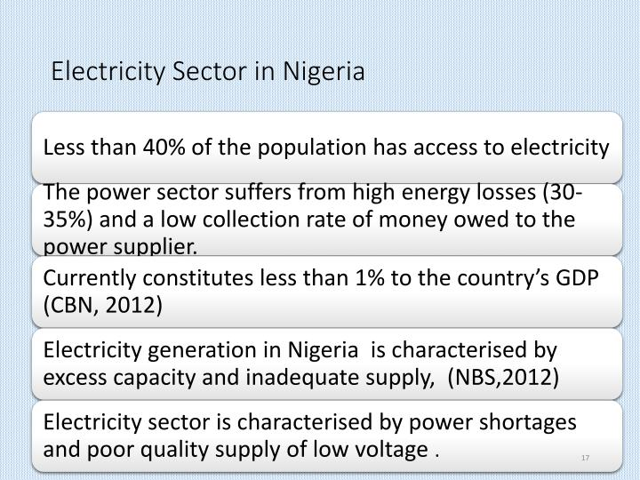Electricity Sector in Nigeria
