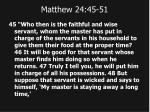 matthew 24 45 51