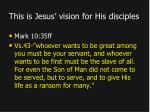 this is jesus vision for his disciples1