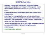 gmep deliverables