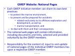gmep website national pages