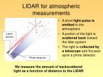 lidar for atmospheric measurements